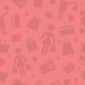 Pattern shopping store icons