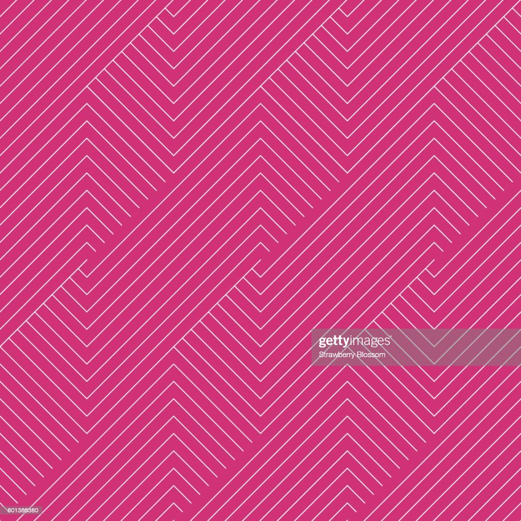 Pattern stripe seamless pink yarrow and white colors. Chevron pattern stripe abstract background vector.