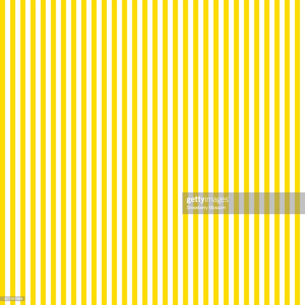 Pattern stripe seamless summer background yellow and white colors. Vertical pattern stripe abstract background vector.