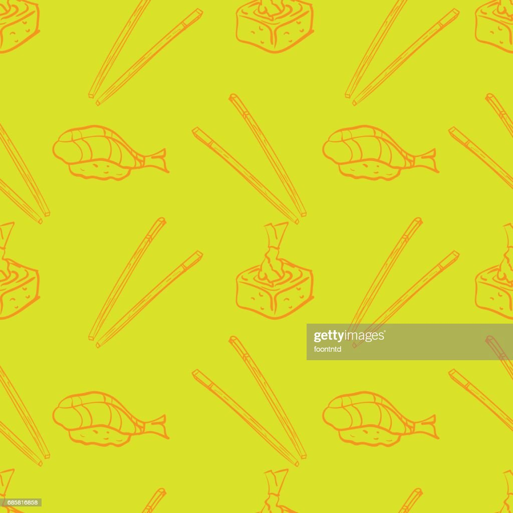 pattern sushi background graphic