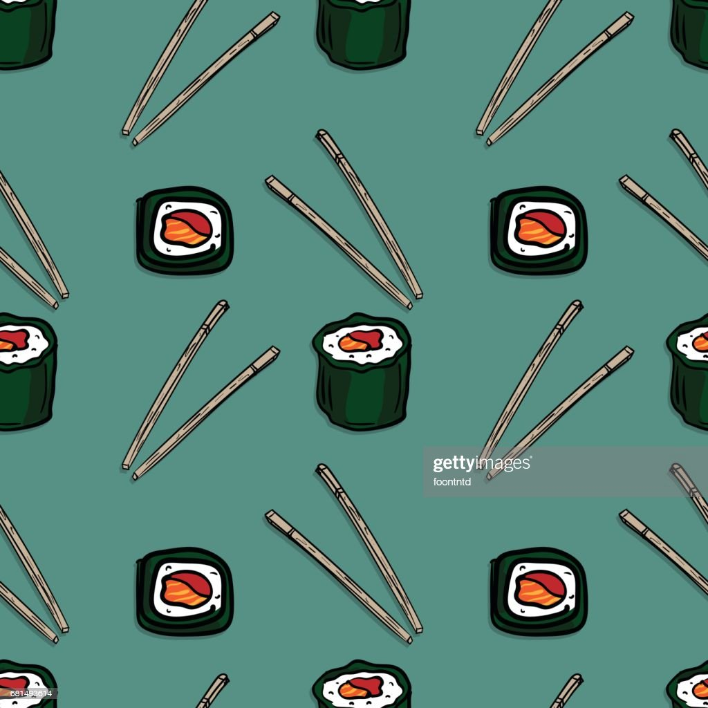 pattern sushi graphic background object