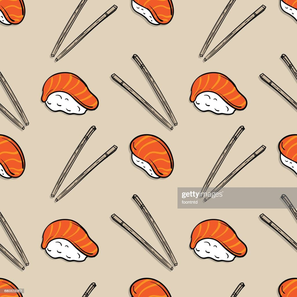 pattern sushi graphic background