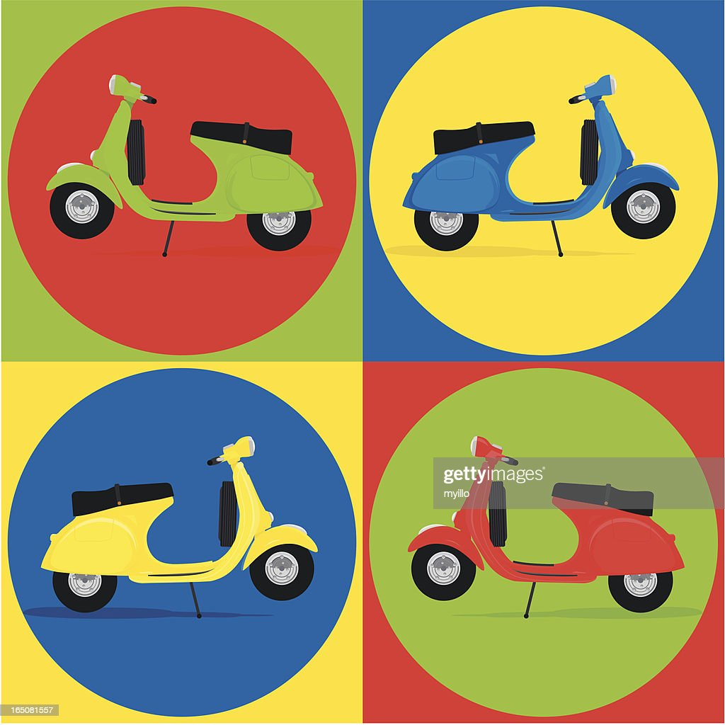 Pattern vespa scooter