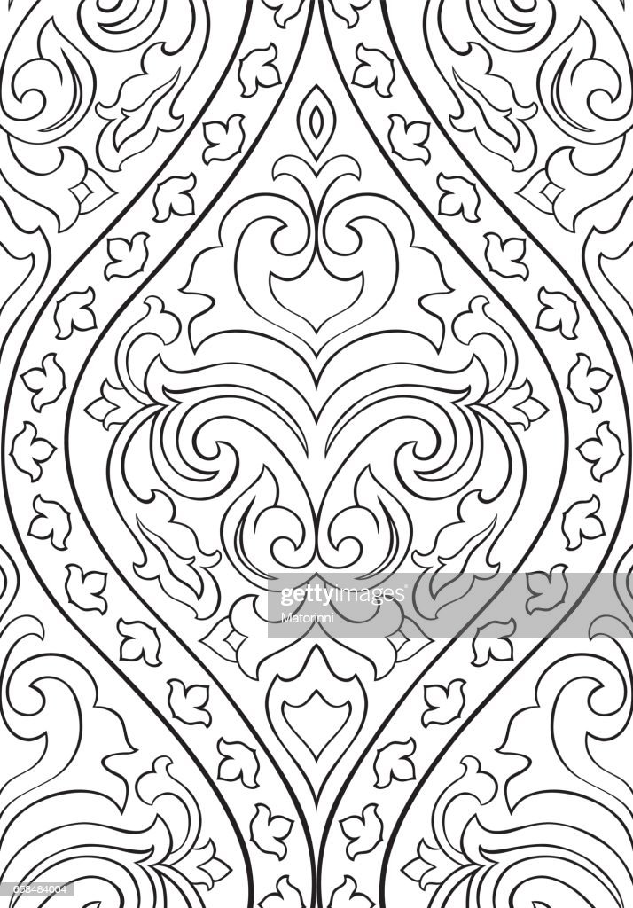Pattern with arabesque for wallpaper.