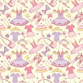 Pattern with ballet school elements