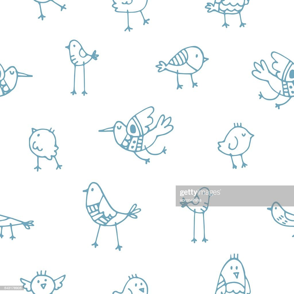 Pattern with birds.