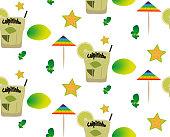 Pattern with caipirinhas