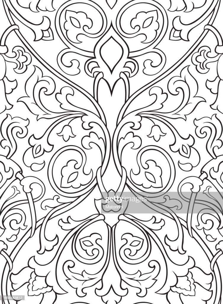 Pattern with flowers for wallpaper.