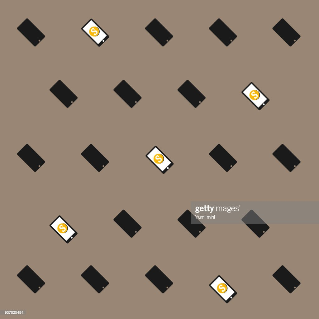 Pattern with mobile phones Technology Background