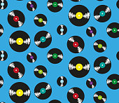 Pattern with music plates