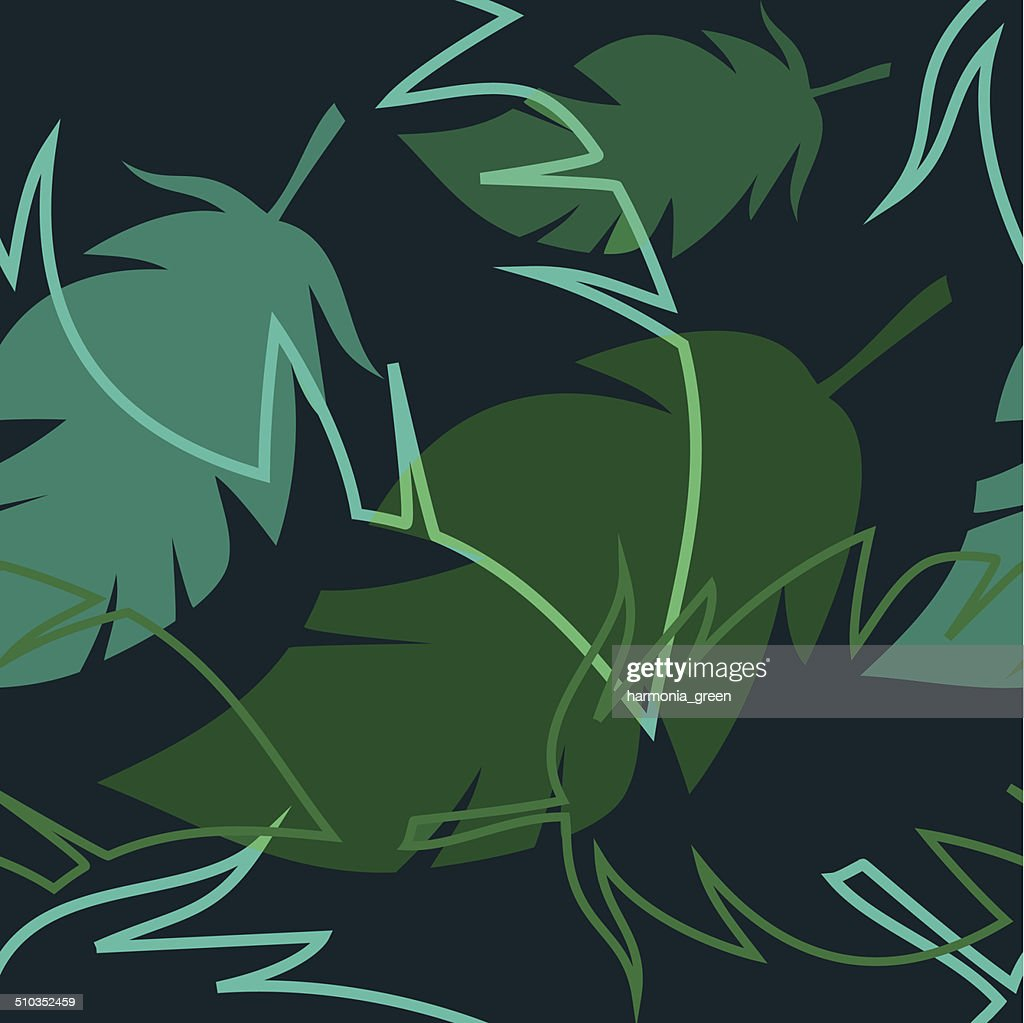 pattern with palm leaves
