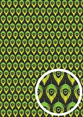 Pattern with peacock feathers – vector illustration