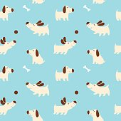 Pattern with puppies