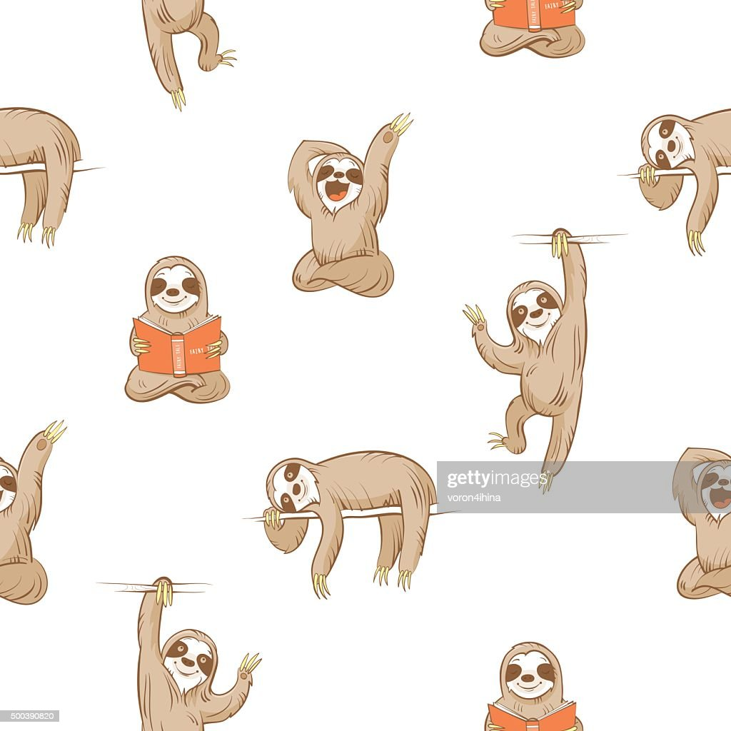 Pattern with sloths.