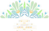 Pattern with vegetative elements. Vector.