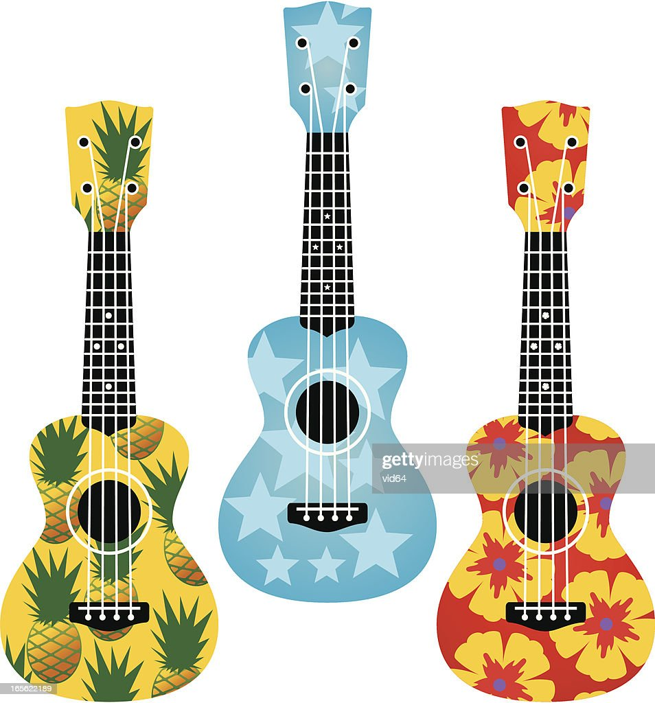 Patterned Ukuleles