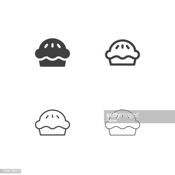 patty pie icons - multi series - meat pie stock illustrations, clip art, cartoons, & icons