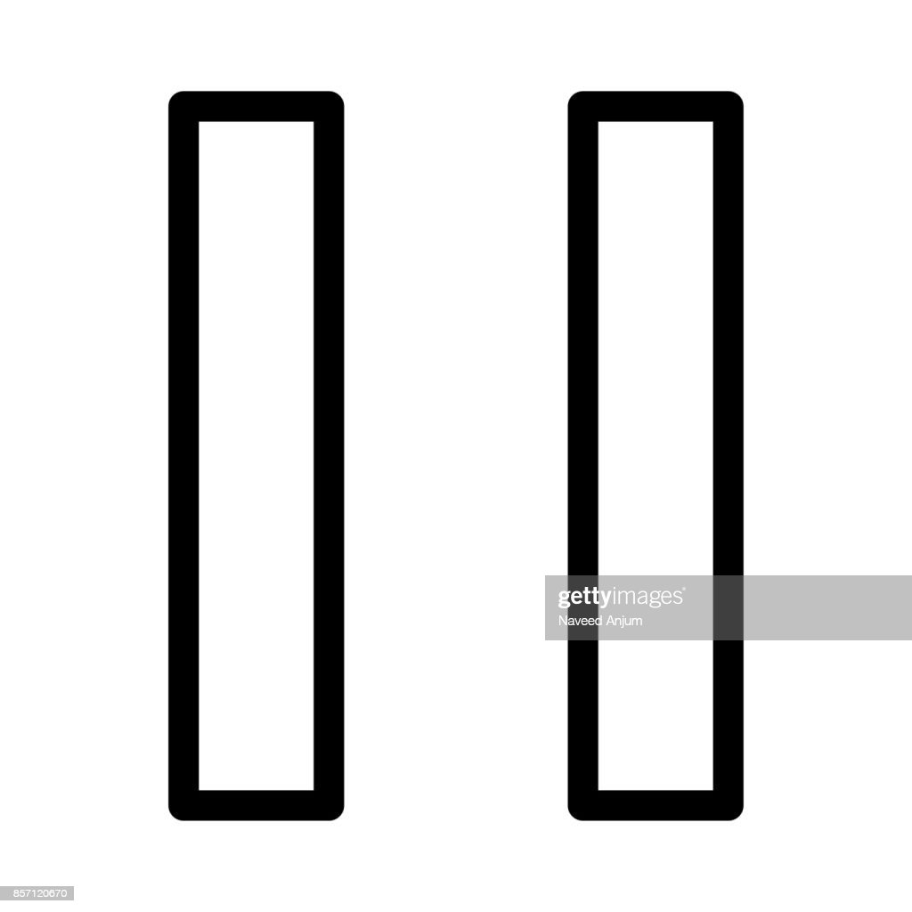 Pause  Thin Line Vector Icons