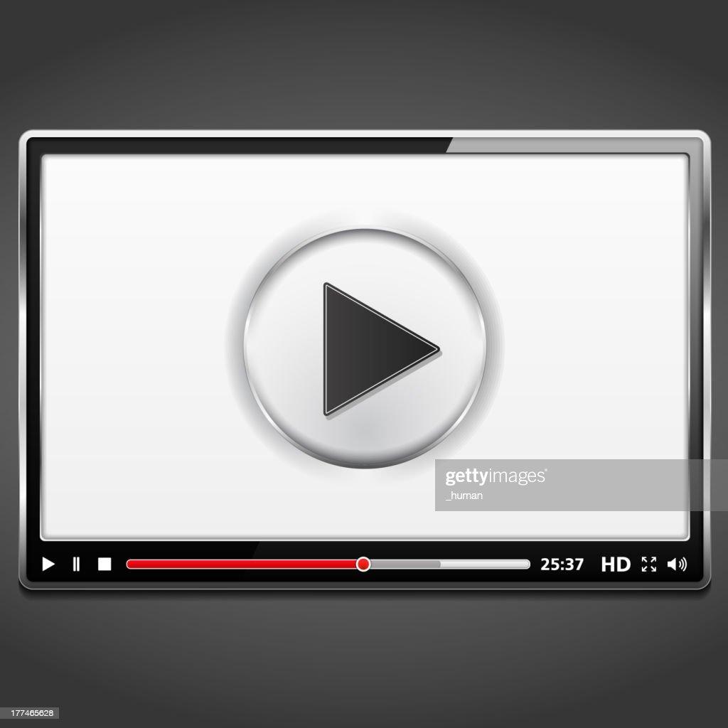 Paused black multimedia player
