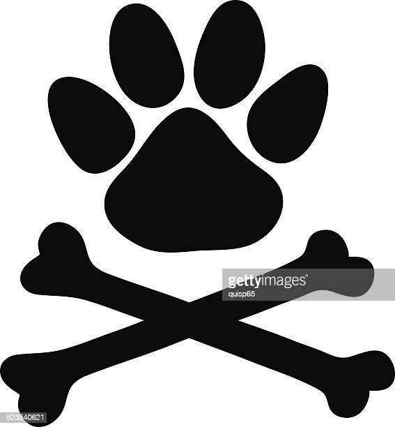 paw とクロスボーン - 海賊旗点のイラスト素材/クリップアート素材/マンガ素材/アイコン素材