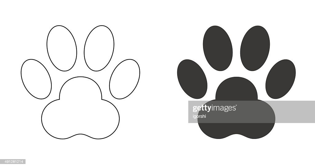 paw foot print icon