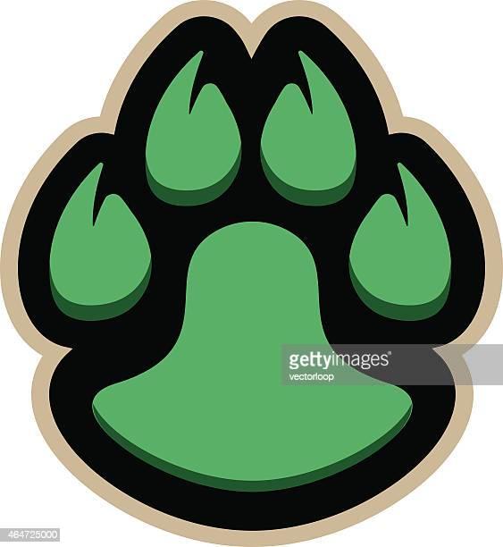 ilustraciones, imágenes clip art, dibujos animados e iconos de stock de logotipo de pata - jaguar
