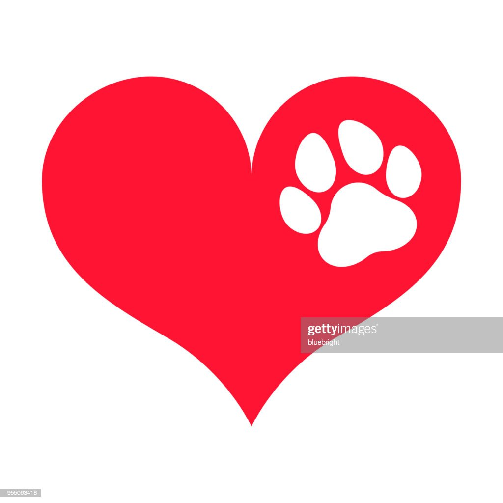 Paw Print on a Heart