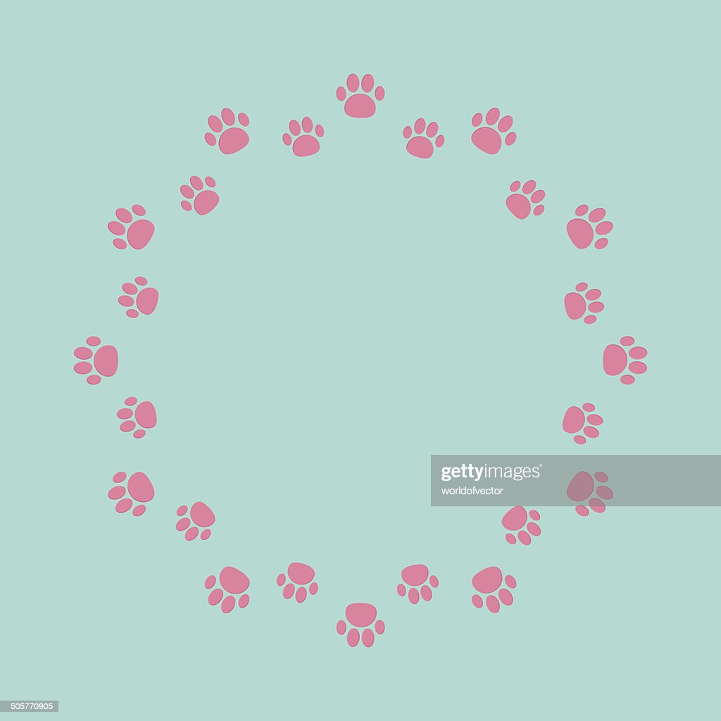 Paw Print Round Abstract Frame Empty Template Vector Art   Getty Images