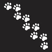 3e10242d3b26 Paw Print; Paw print vector icon. Dog or cat pawprint illustration. Animal  silhouette.
