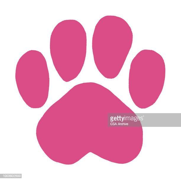 動物の足跡 - 動物の足点のイラスト素材/クリップアート素材/マンガ素材/アイコン素材