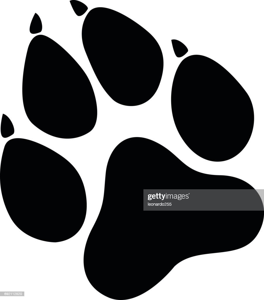 Paw Prints black