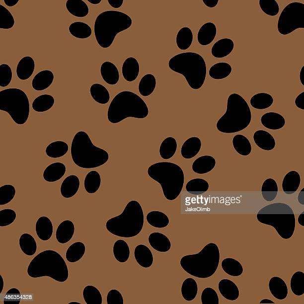 paw prints pattern - art and craft stock illustrations