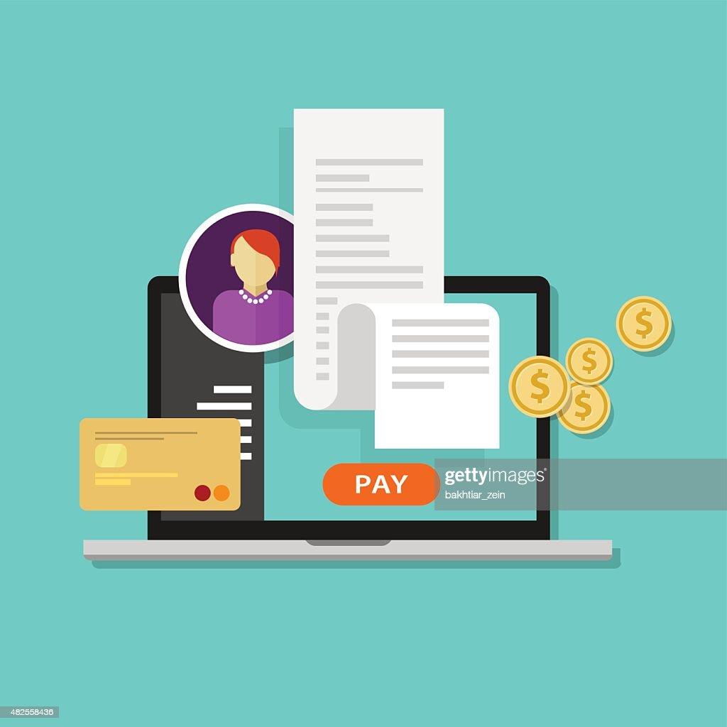pay bills tax online receipt billing payment