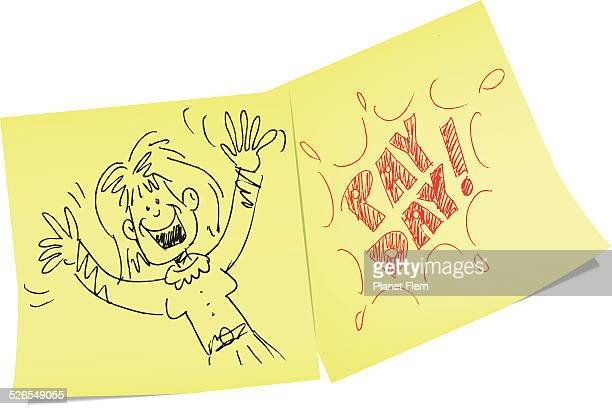 pay day memo - paycheck stock illustrations, clip art, cartoons, & icons