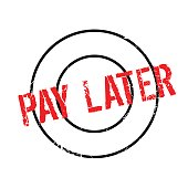 Pay Later rubber stamp