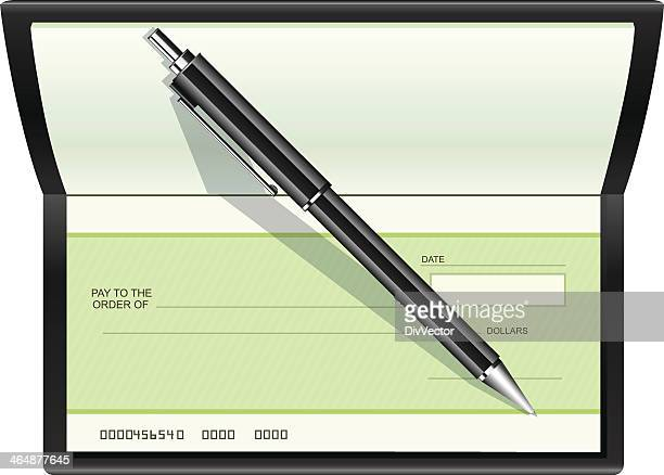 pay the bill - cheque stock illustrations, clip art, cartoons, & icons