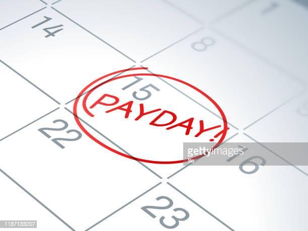 給料日カレンダーリマインダー - 昼間点のイラスト素材/クリップアート素材/マンガ素材/アイコン素材