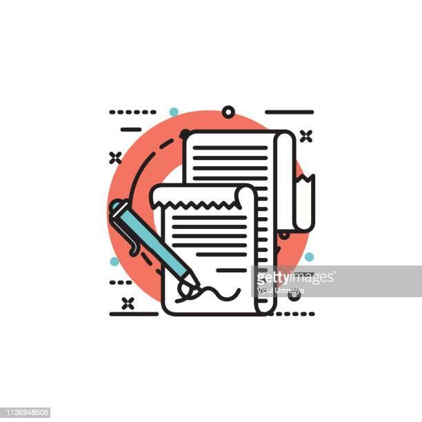 rechnungen bezahlen. hände halten rechnungen und bleistift. zahlung von dienstprogramm - addierrolle stock-grafiken, -clipart, -cartoons und -symbole