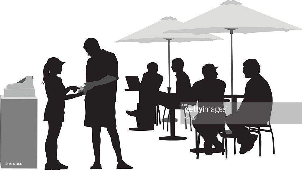 Paying The Waitress