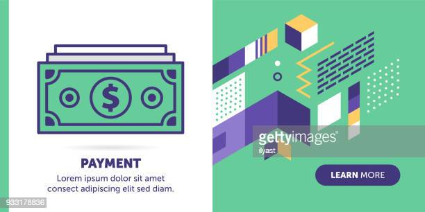 payment banner - dollar sign stock illustrations, clip art, cartoons, & icons
