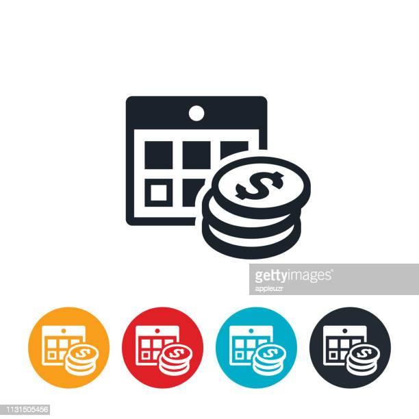 ilustrações de stock, clip art, desenhos animados e ícones de payment date icon - prazo