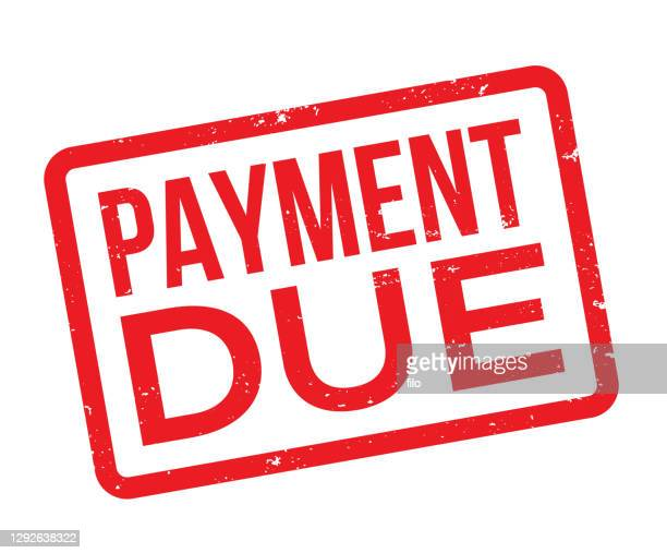 payment due stamp - deadline stock illustrations