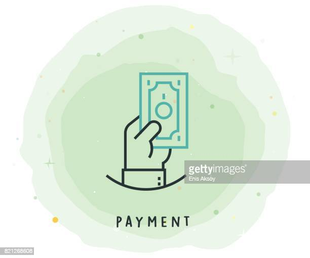 Payment Icon with Watercolor Patch