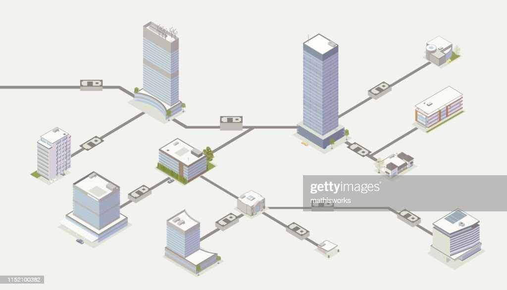 Payment network illustration : stock illustration