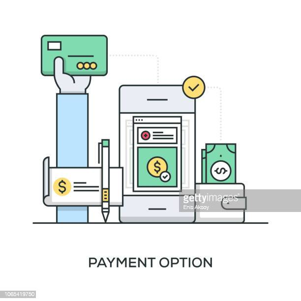 payment option - choice stock illustrations
