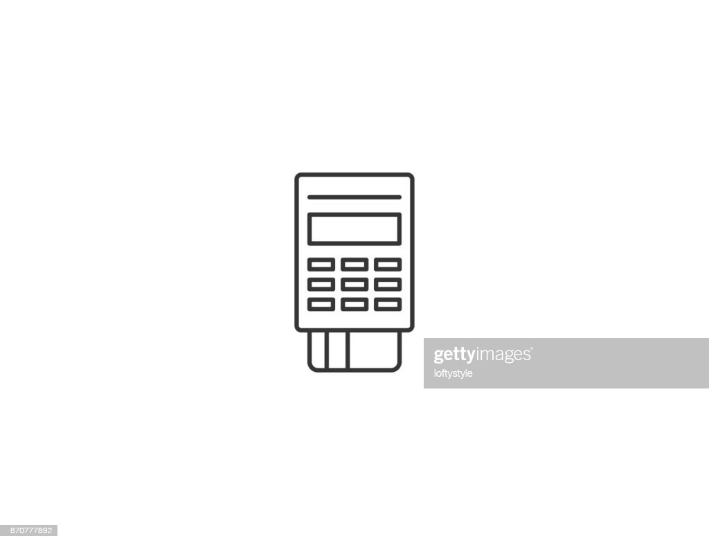 Payment POS terminal thin line vector icon