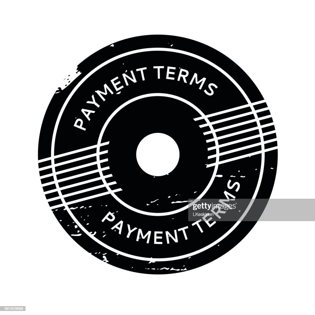 Payment Terms rubber stamp