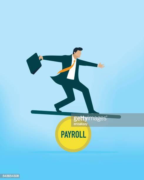payroll balance - paycheck stock illustrations, clip art, cartoons, & icons