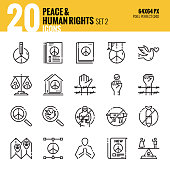 Peace and Human Rights icon set2.