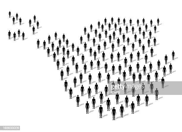 friedensgemeinschaft - große personengruppe stock-grafiken, -clipart, -cartoons und -symbole
